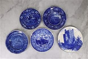 Blue Transferware Plates