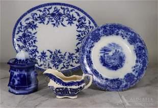Flow Blue Tableware