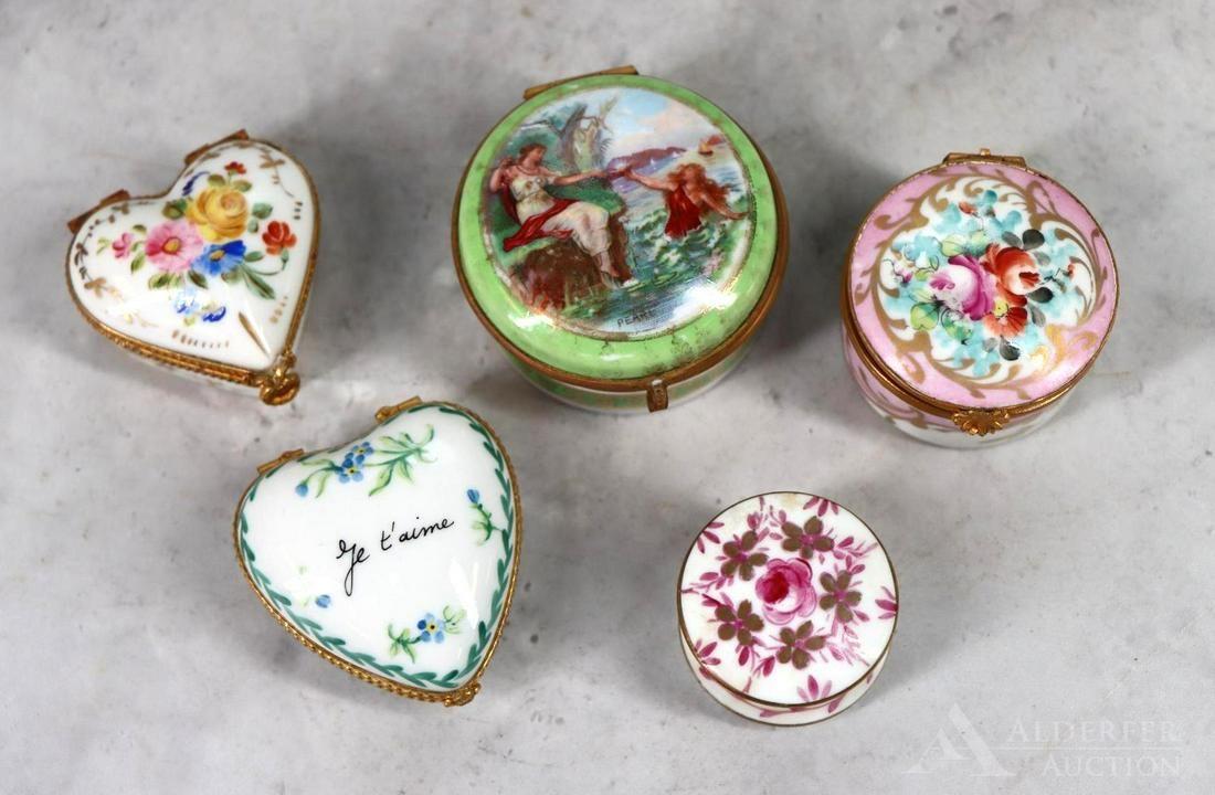Limoges Porcelain Patch Boxes