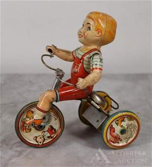 Kiddy Cyclist Tin Litho Wind Up Toy