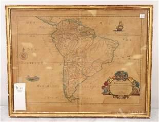 Sanson Map, South America