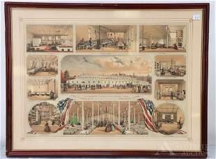 Lithograph, Civil War, Philadelphia