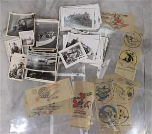 WWII Disney Combat Insignia Transfers, & Vintage