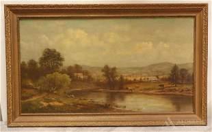Charles Wilson Knapp (American 1823-1900) Oil on Canvas