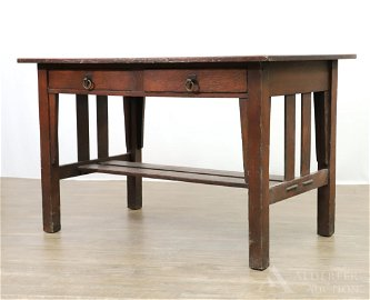 """Stickley """"Quaint"""" Arts & Crafts Library Table"""