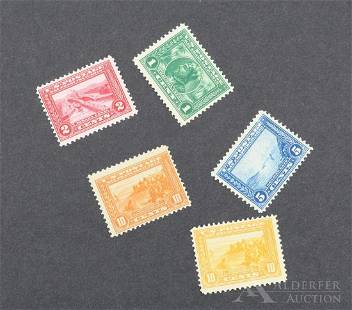 US Stamps #397-#400, #400A,