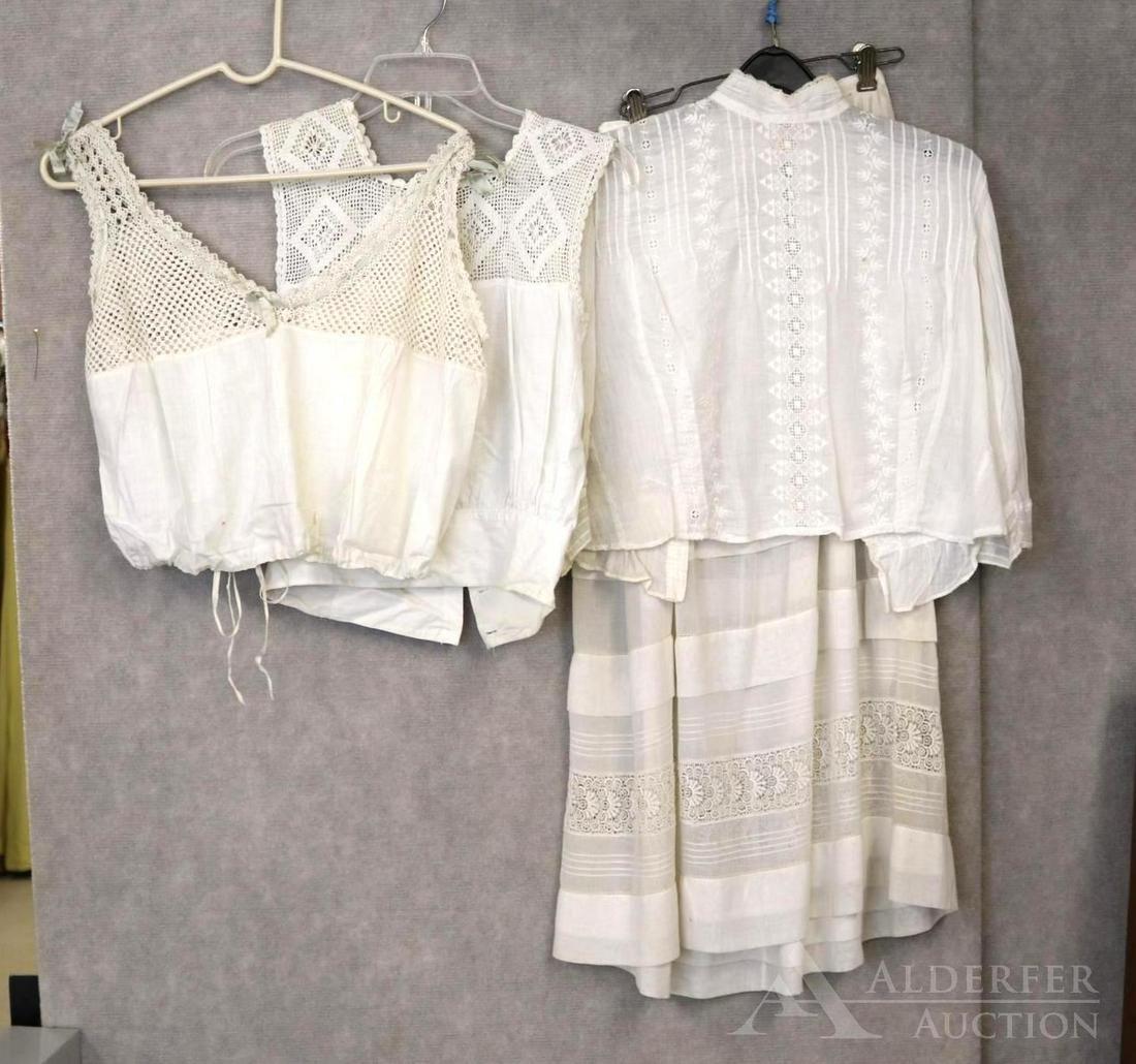 LOT OF ANTIQUE LADIES CLOTHING.