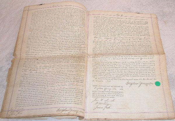 1: Brigham Young's Last Will and Testament with Codicil