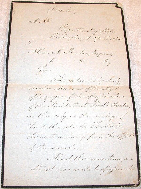 2: Lincoln Assassination Manuscript.