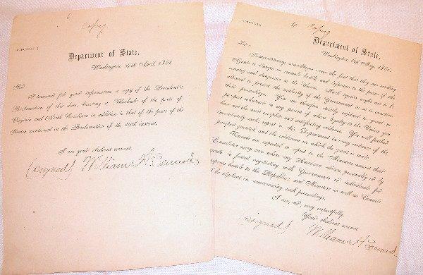 6: Pair of Civil War Department of State Circulars.