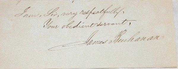 9: Autograph of James Buchanan.