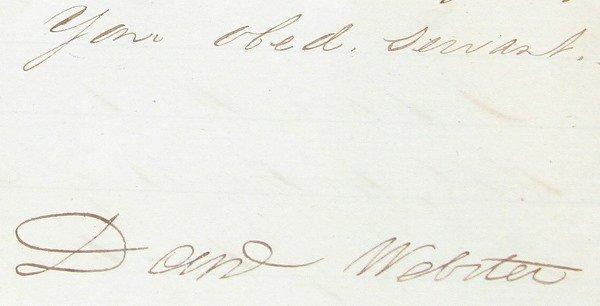 14: Autograph of Daniel Webster.