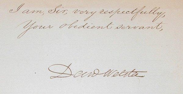 15: Autograph of Daniel Webster.