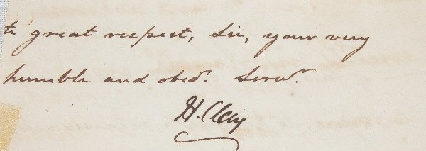 16: Autograph of Henry Clay.