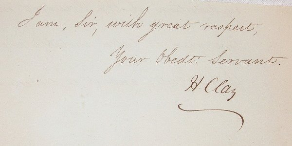 18: Autograph of Henry Clay.