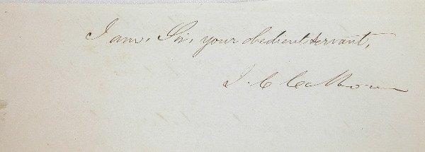 19: Autograph of John C. Calhoun.