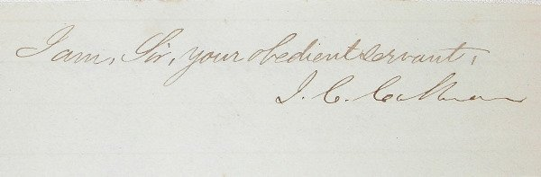 20: Autograph of John C. Calhoun.