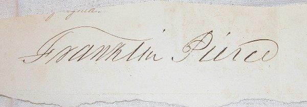 22: Autograph of Franklin Pierce.