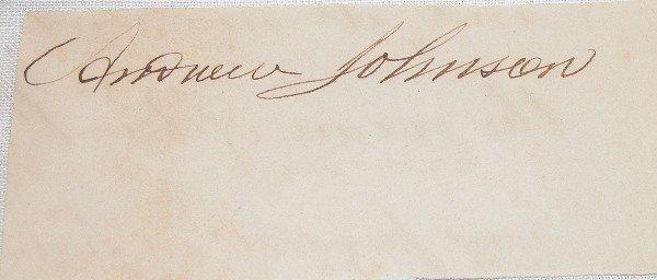 23: Autograph of Andrew Johnson.