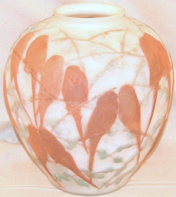 472: Molded Glass Vase.