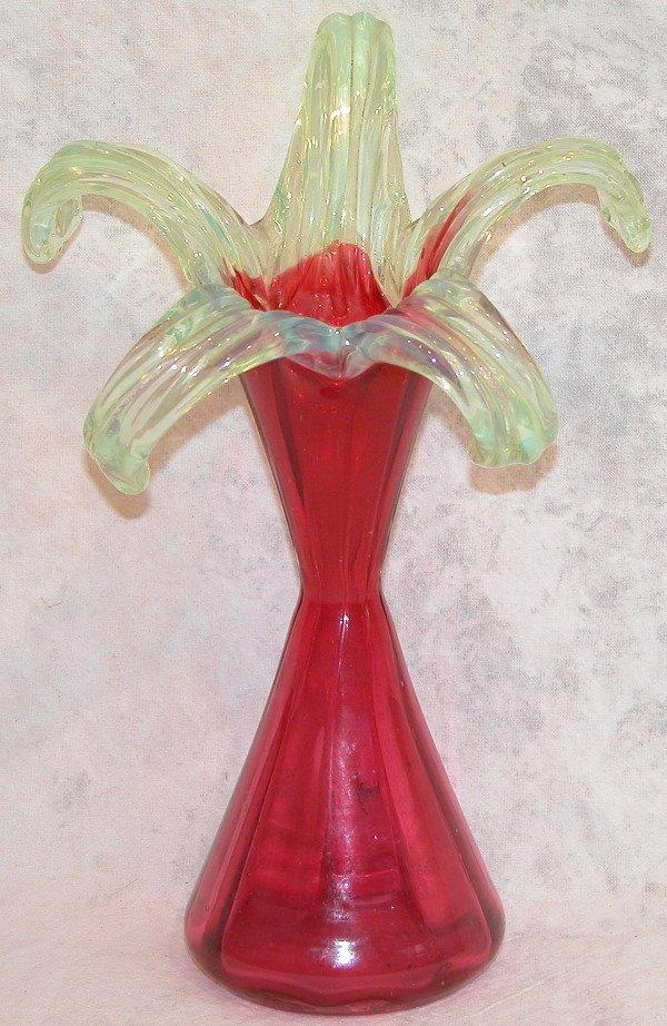 475: Victorian Glass Vase.