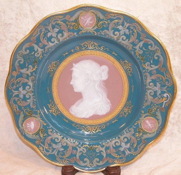 650: Pate-sur-Pate Portrait Plate – Meissen.