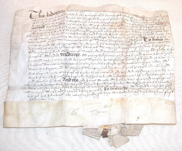 1: 16th Century English Land Document.