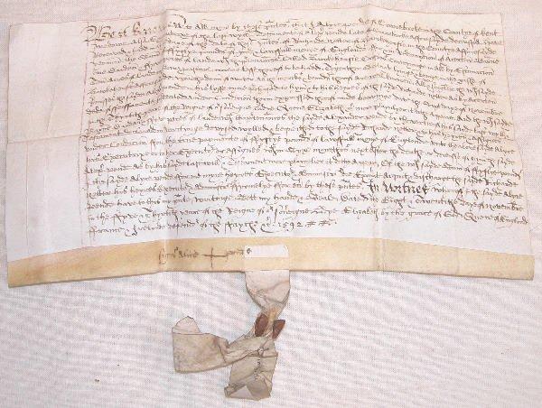 10: 16th Century English Land Document.
