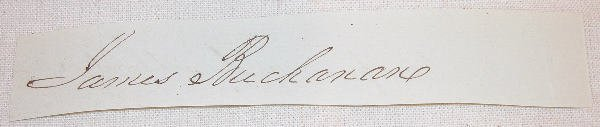 19: Autograph of James Buchanan.