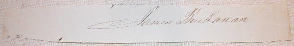 20: Autograph of James Buchanan.