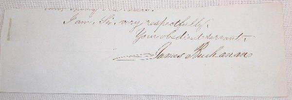 21: Autograph of James Buchanan.