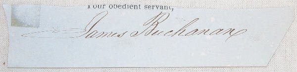 22: Autograph of James Buchanan.