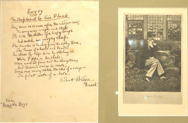 24: Autograph of Robert Bridges.