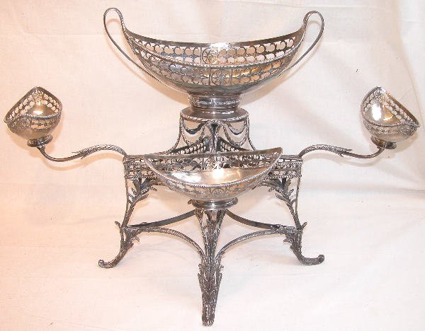 542: Georgian Sterling Silver Epergne.