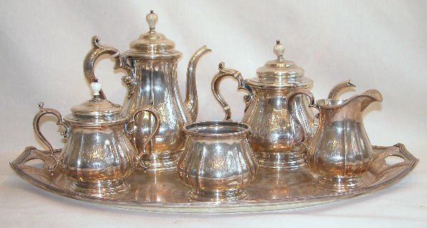 544: Sterling Silver Tea and Coffee Service – J.E. Cald