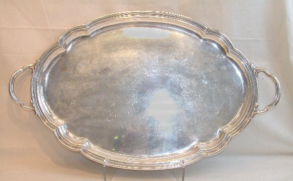 546: Large Sterling Silver Tray – Gorham.