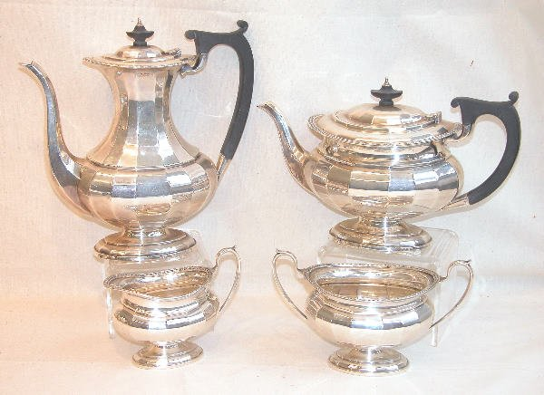 547: English Sterling Silver Tea and Coffee Service.