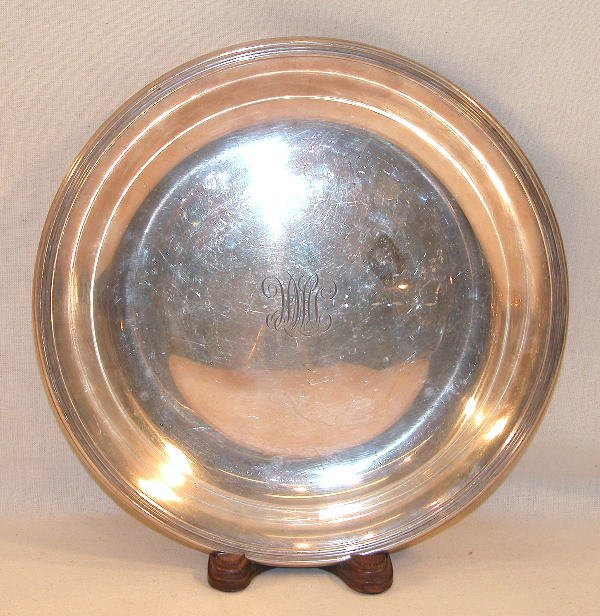 557: Sterling Silver Plate – Bailey, Banks & Biddle.