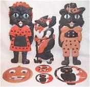 722 Grouping of German DieCut Halloween Decorations