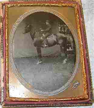 Tintype of Boy on Horse.