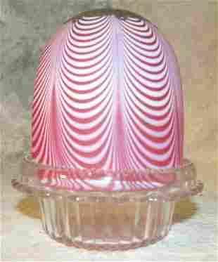 Satin Glass Fairy Lamp.
