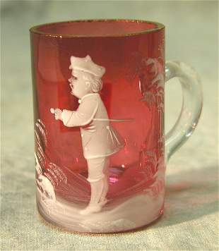 Cranberry Glass Shot – Mary Gregory.