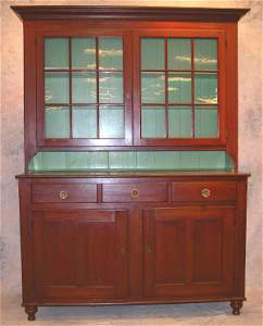 868: Pennsylvania Cherry Dutch Cupboard.
