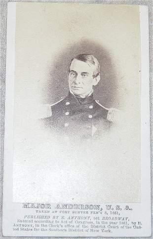 CDV of General Robert Anderson.