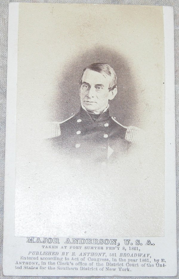 5: CDV of General Robert Anderson.