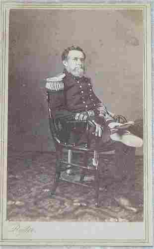 CDV of Admiral Andrew Hull Foote.