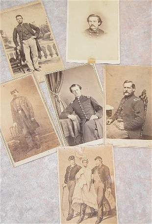 Grouping of CDV's of Civil War Officers.