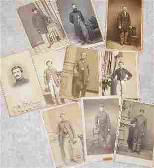 Grouping of CDV's of Civil War Enlisted a