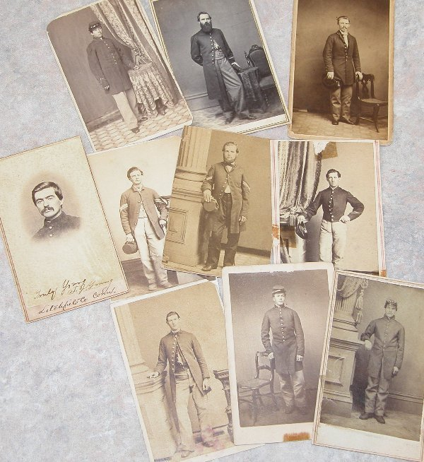 11: Grouping of CDV's of Civil War Enlisted a