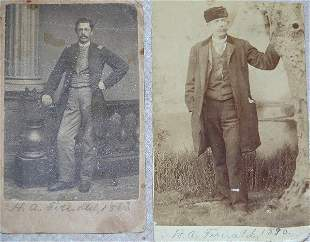 Pair of CDV's of Henry A. Fernald, 22nd M